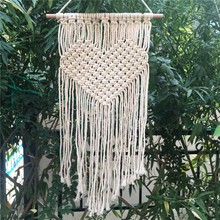 SHTP011 100 Cotton Home Decor Wall Hangings Fringe Macrame Wall Hanging