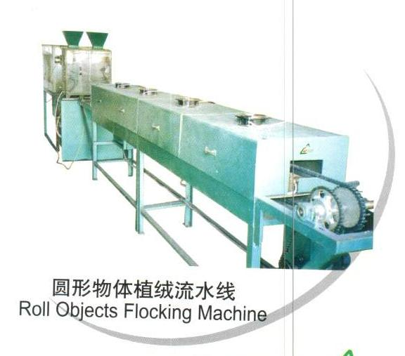 Roll Objects Flocking Assembling Line