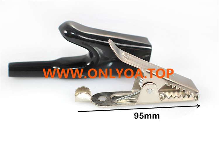 Insulated 50A large alligator clips electrical test crocodile clamps