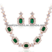 Authentic Austrian emerald green crystal set