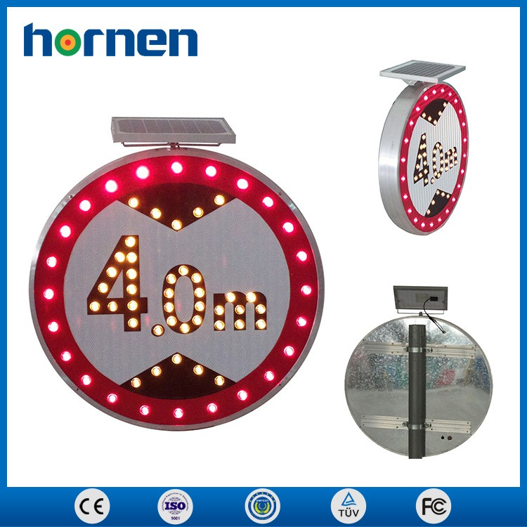 Battery powered led flashing traffic signs