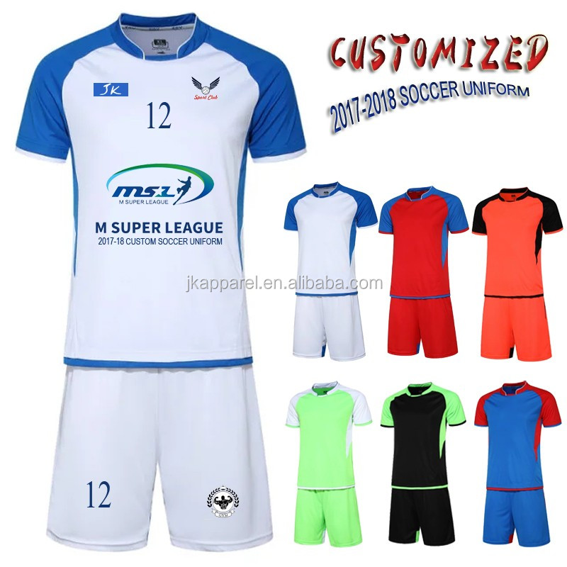 football jersey 2017 latest design custom Sublimation sports wear for men
