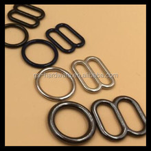 alloy silver rings sliders hooks bra accessory metal material bra rings sliders hooks,JX-B009