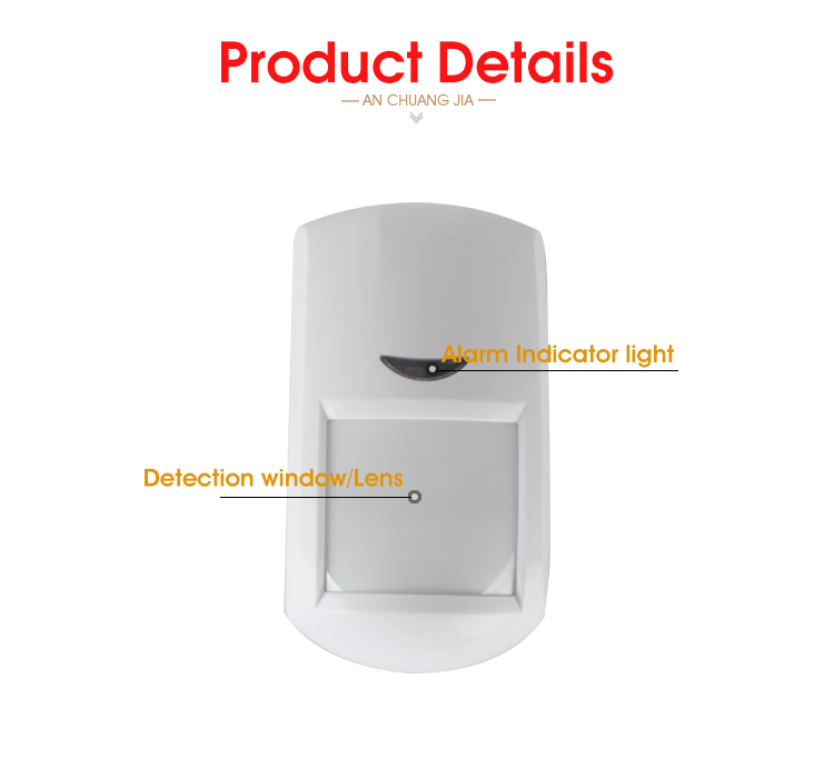 433MHZ Wireless Pir Motion Sensor Detector