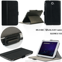 Wholesale Lots For Sale Slim Elegant Stand Folding PU Leather Tablet Case For Samsung Note 8 N5100