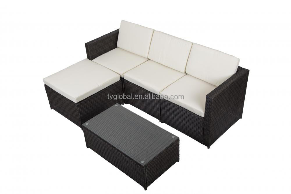 Rattan wicker garden sofa set garden furniture outdoor sofa