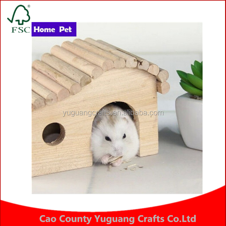 2016 Hot ! New Mini Hamster Inclined Top Small Animal Bird Parrot Wooden Pet Cage