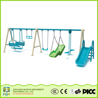 Bairun Products From China Swing And Slide Garden Outdoor Furniture Swing Set With Slide