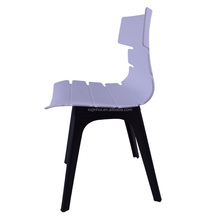 2018 unique design best price modern armless plastic leisure dining chair