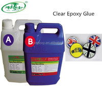 Two Components Super Clear Epoxy Resin Hard AB Glue For Badge Coating