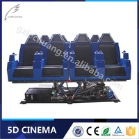 Lechuang Newest 8D/9D/Xd Cinema 6/8/9/12 Seats 5D Cinema Simulator For 12 Persons Blue