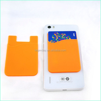 Hot Silicone Card Holder For Iphone, 3M Sticker Paste Smart Wallet For Mobile Phone