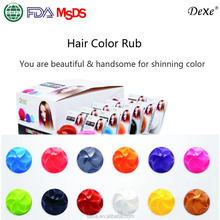 dexe hair color chalk ,temporary hair color rub in hair dye with 12 colors