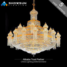 Traditional big crystal chandelier lighting for mosque