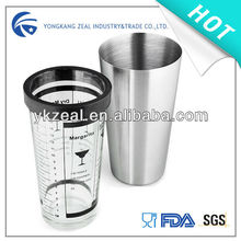 classic matte or mirror surface 28OZ 800ML silver cocktail shaker
