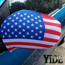 wholesale spandex&polyester printed country flag car mirror cover,custom car side mirror flag,national car mirror sock
