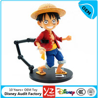 Custom made 13 CM high one piece action figures Luffy for collection; Disny Authorised Toy Factory
