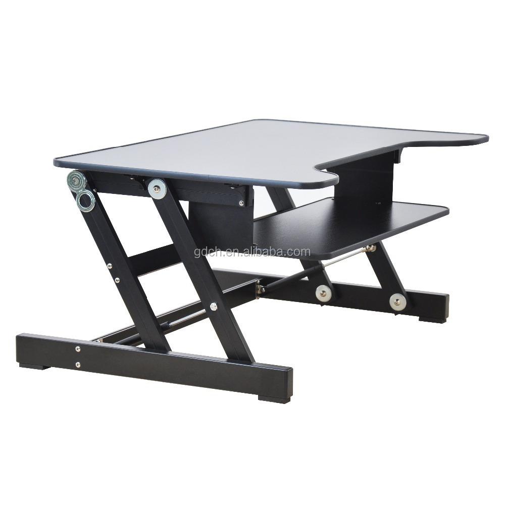 Wooden Desktop Table Folding Adjustable Laptop Riser,Standing Desk