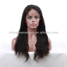 Top quality human hair wig silk top 100% Brazillian hair full lace wig
