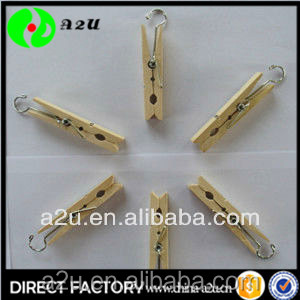 high quality mini wood clothes clip or pegs