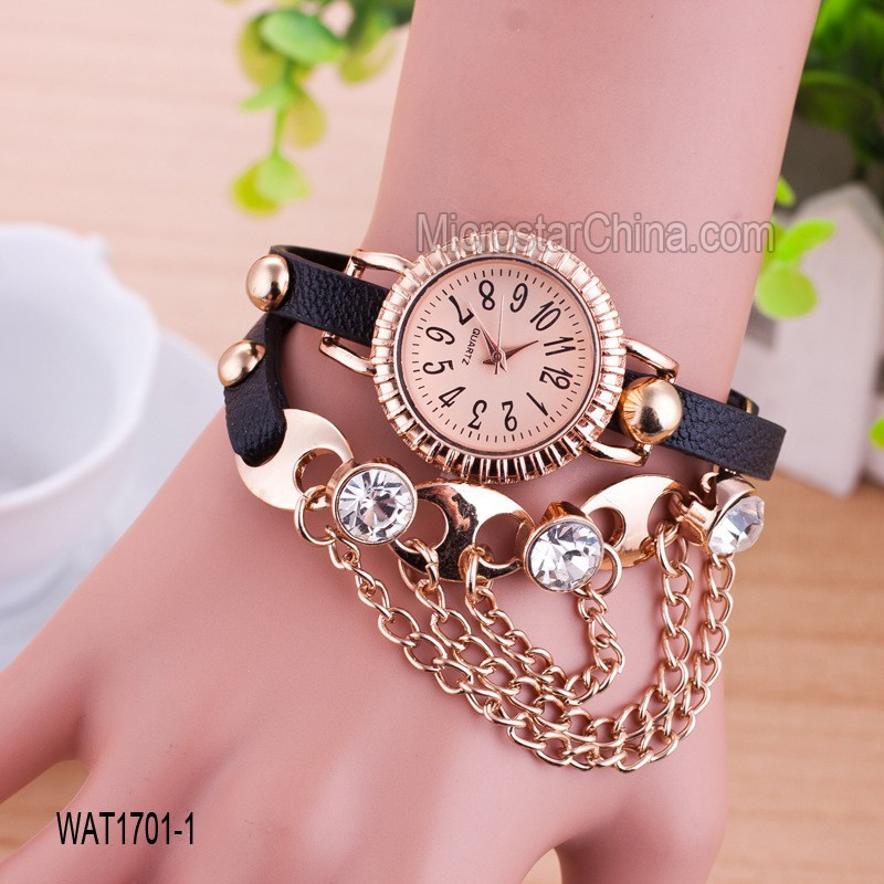 In stock hot european style mix color cheap mens chain watch