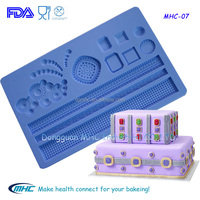 diamond series gum paste and fondant silicone form, cake border decoration mold