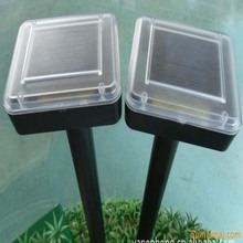 abs material outdoor square solar powered mosquito repellent