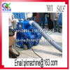 Asphalt pavement marker line cleaning machine