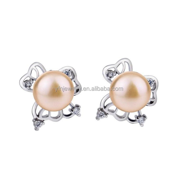 Trendy Pearl Stud Earrings Baroque Pearl Earring Wholesale Fashion Jewelry