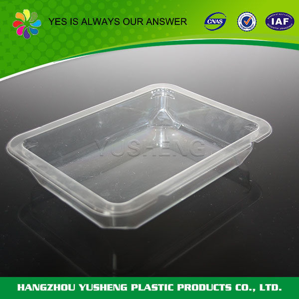 Transparent disposable clear large plastic food/fruit tray,fast food packaging