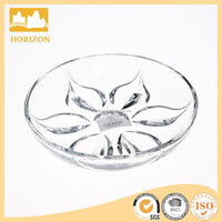 Hand Press Decorative Crystal Glass Fruit bowl
