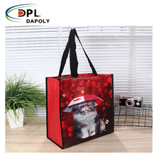 Plastic water proof PP Woven Storage Shopping Bag with handle
