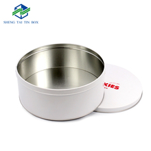 Tin Box Manufacturer Custom Logo Popular Metal Round Biscuit Tin Cans