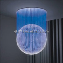 chandelier side glow fiber optic art lighting