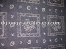 2012 hot sale cotton jacquard denim fabric for jeans