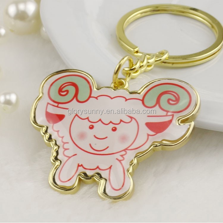 Top sale environment friendly cheap customized cartoon sheep keychain