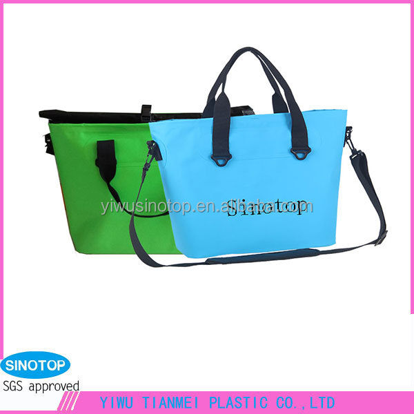 Sinotop bright colour customized long single strap bag for yong women tote bags with velcro and buckle is safe for shopping