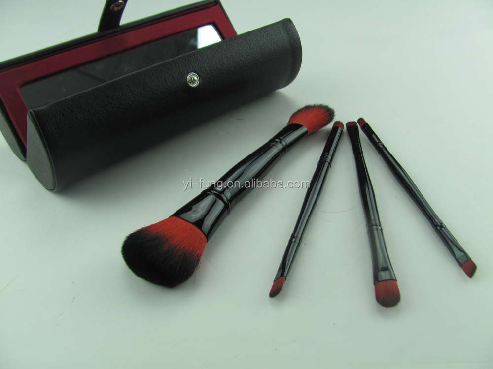 4 Pcs Make up Brush Holder Styling Tools Semicircle Opening Makeup Brush Brand With Mirror