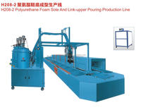 H208-2 Polyurethane Foam Sole And Link-upper Pouring Production Line