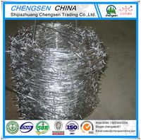 Hot dip/ Electric galvanized Double Twist Barbed wire price