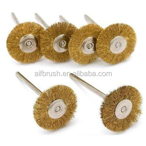 19mm mini Brass Wire Cleaning Tool Wire Brushes for Dremel Tool