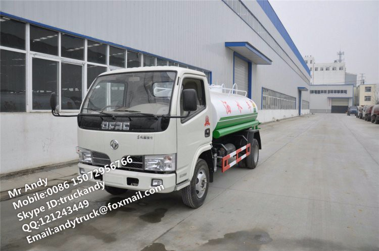 Dongfeng 5000liter water tank trucks,5m3 sprayer truck price