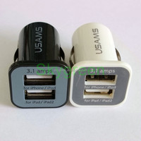 Sales Dual USB 2 Port DC Car Charger 2.1A 1A Adapter for iPhone Samsung Black