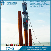 YC5 foundation pile driver hydraulic impact hammer for concrete