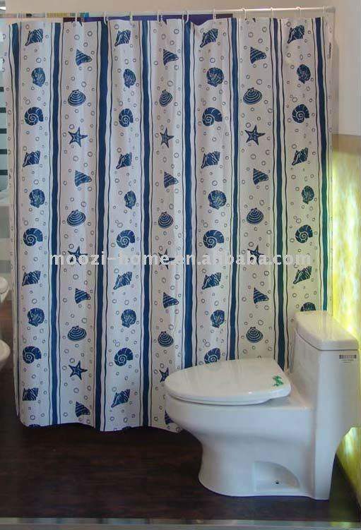 printed ocean polyester shower curtain (NEW!)