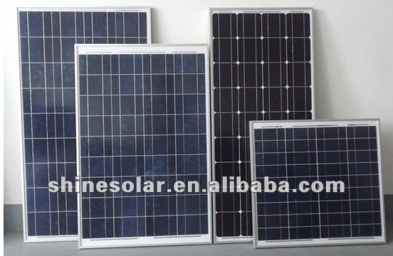 price solar panels with TUV, CE 100w poly solar module