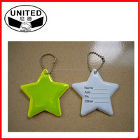 Wholesale star shaped reflective keychain