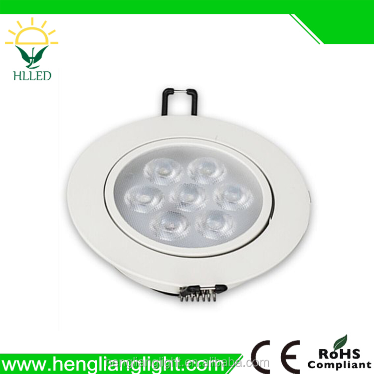 2016 hot sale IP44 Ceiling Lighting COB Dimmable Recessed LED Downlight