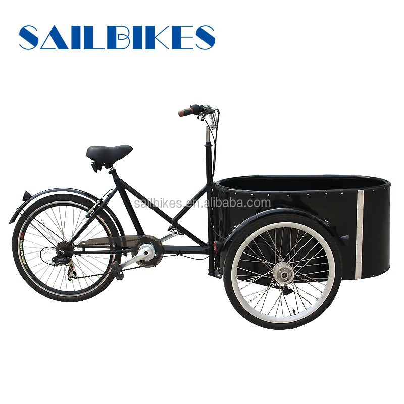 chinese bikes sailbikes battery operated round cargo tricycle with 10ah battery