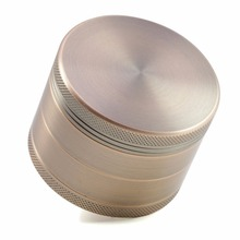 4 Layers Aluminum 2.5 Inches CNC Teeth Color Bronze Herb Grinder